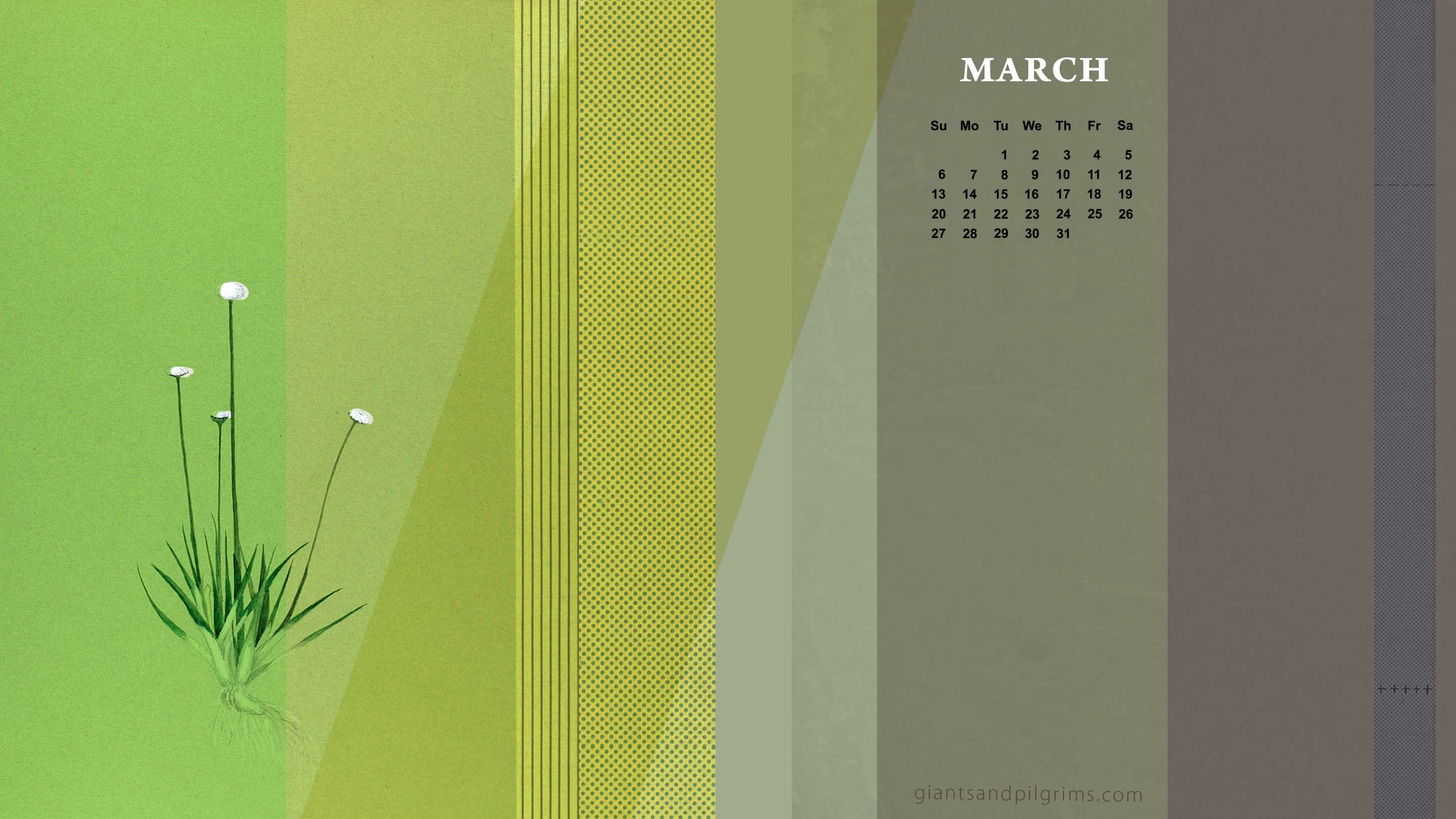 March Free Calendar Desktop And Iphone Wallpaper Giants Pilgrims