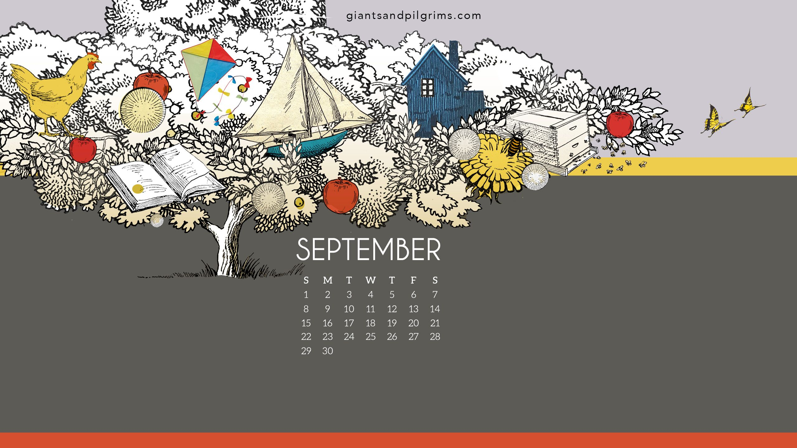 September 2019 Desktop Wallpaper Giants Pilgrims